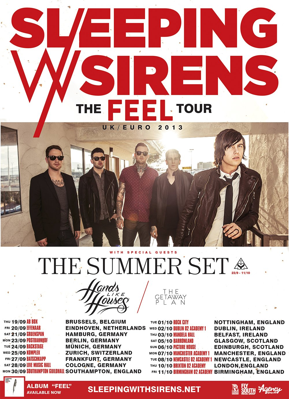 Support Acts Announced For Sleeping With Sirens Tour