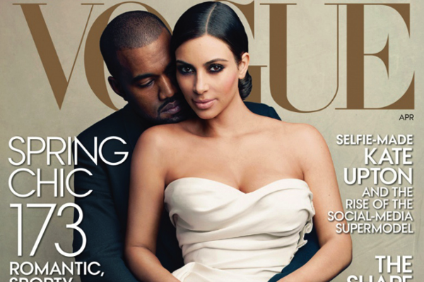 Kim and Kanye cover