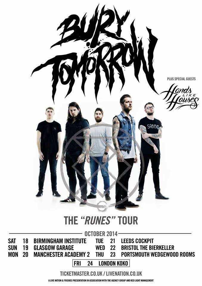 Bury tomorrow announce uk 39 runes 39 tour htf magazine for 17th floor concert schedule