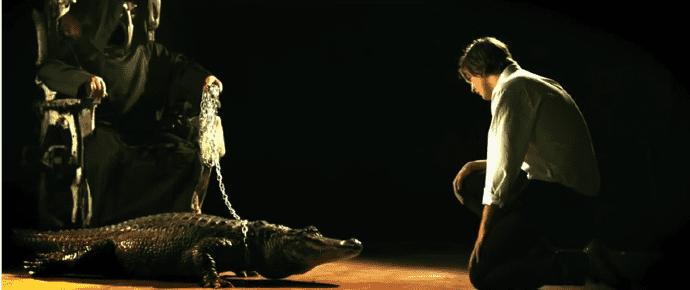 Screen cap fo Bring Me The Horizon's Alligator Blood music video