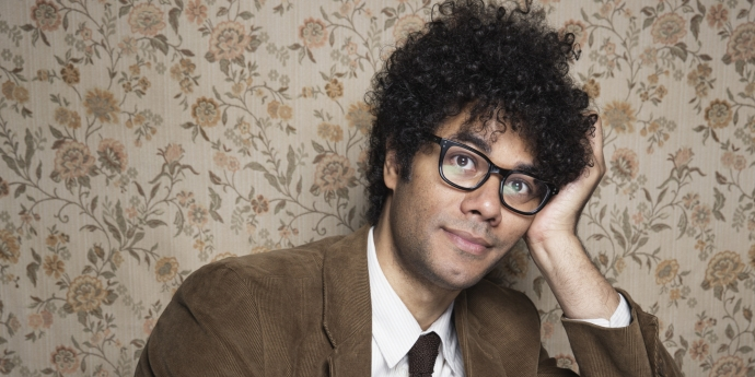 Richard Ayoade poses for a portrait at The Collective and Gibson Lounge Powered by CEG, during the Sundance Film Festival, on Friday, Jan. 17, 2014 in Park City, Utah. (Photo by Victoria Will/Invision/AP)