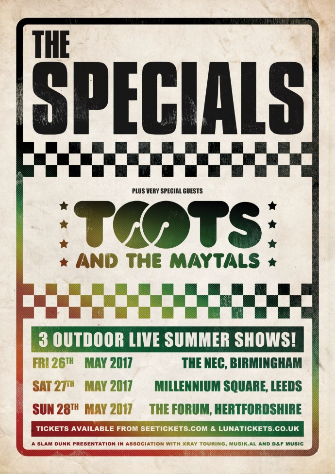 The Specials w/ Toots And The Maytals Poster // Source: Promo