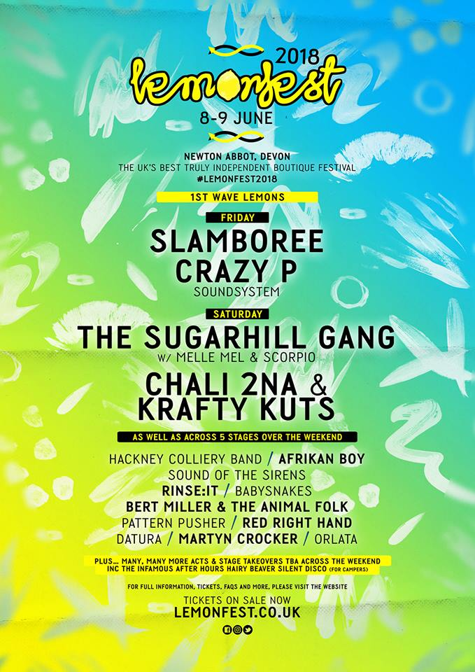 Lemonfest 2018 Line Up