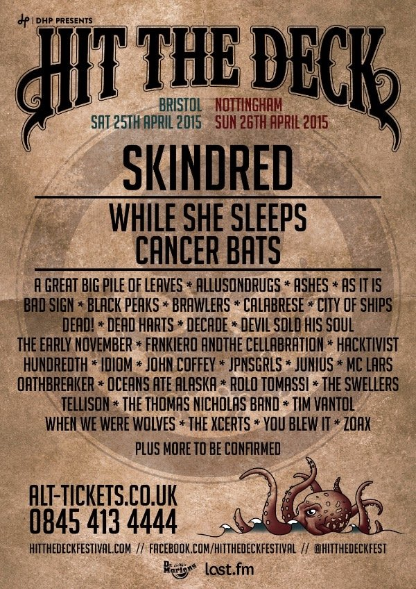 Hit The Deck Festival Lineup poster 2015