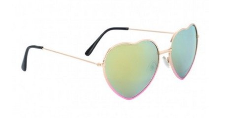 Peacocks Women's Heart Frame Sunglasses