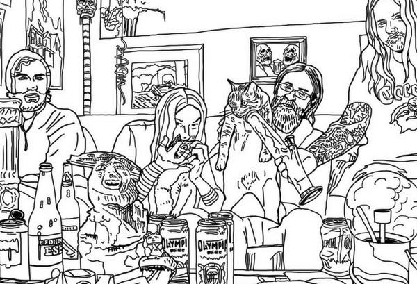 Metal Cats colouring book (2)