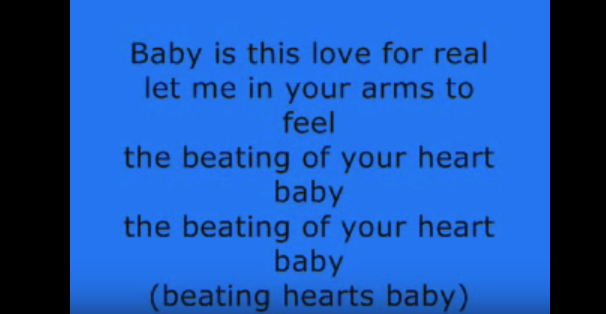 Who sung the catchy 'Beating Hearts Baby'?