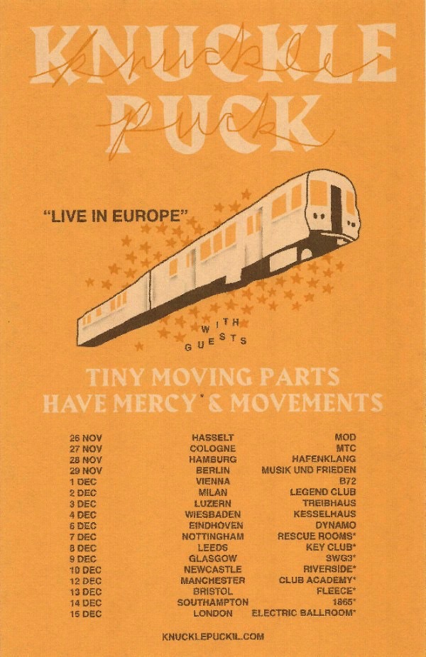 Knuckle Puck December 2017 Tour