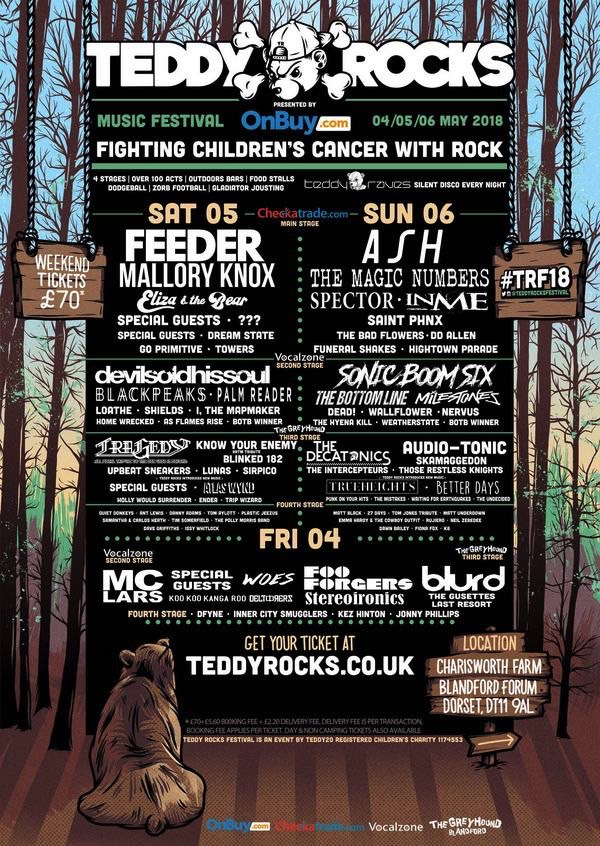 Teddy Rocks Lineup Poster